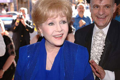 Debbie Reynolds at tribute in July 2005